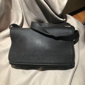 Coach brown pebbled leather bag, vintage
